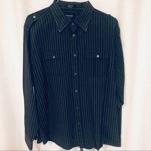 Eighty eight platinum dress shirt black striped